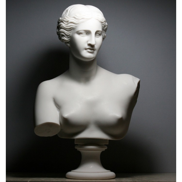APHRODITE Goddess Venus de Milo Bust Head Greek Cast Marble Sculpture 53 cm