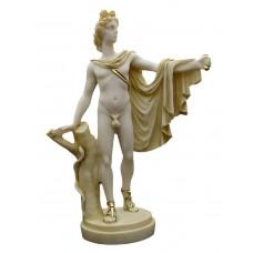 APOLLO Belvedere Greek Roman God of Music Nude Male Cast Marble Statue Sculpture
