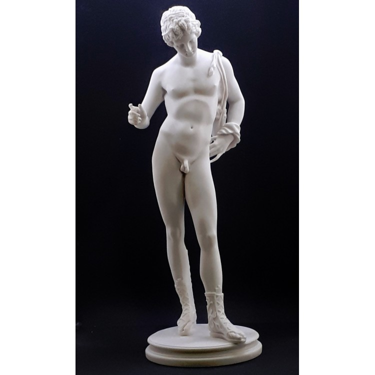 Adonis Lover of Goddess Aphrodite Nude Male Art Large Statue Sculpture Cast Marble