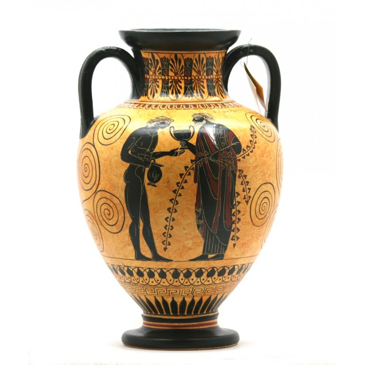 Amphora Achilles Slaying Penthesilea Ancient Greek Vase Pottery