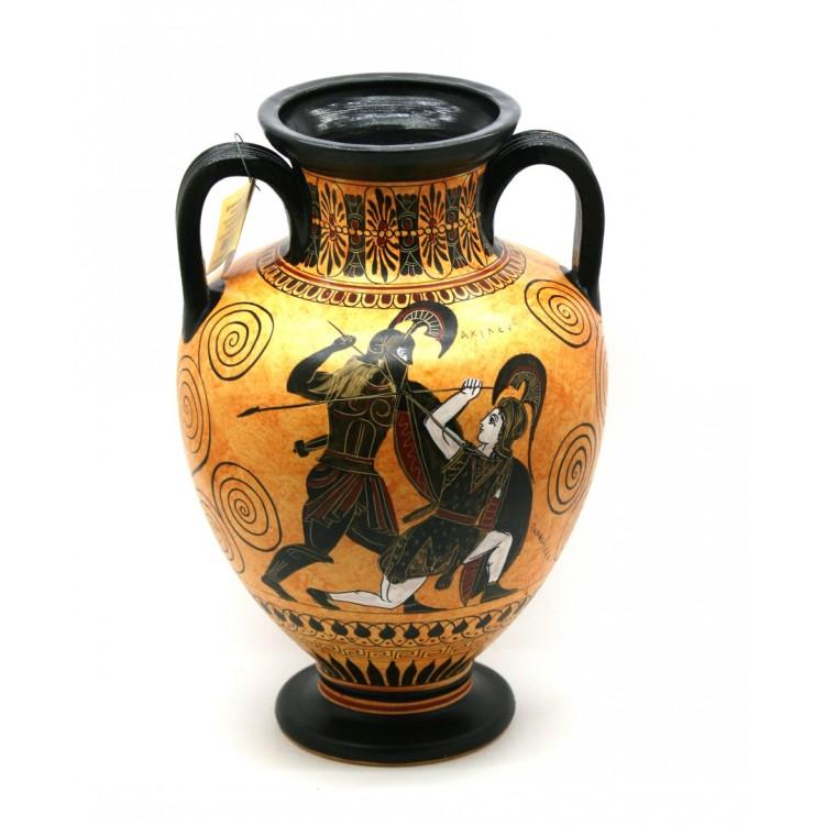 Amphora Achilles Slaying Penthesilea Ancient Greek Vase
