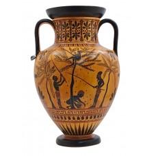 Amphora Olive Gathering Heracles Centaur Pholus Vase Ancient Greek Pottery Ceramic