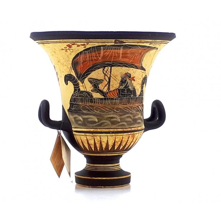 Ancient Greek Vase Krater Pottery Goddess Aphrodite God Dionysus 69