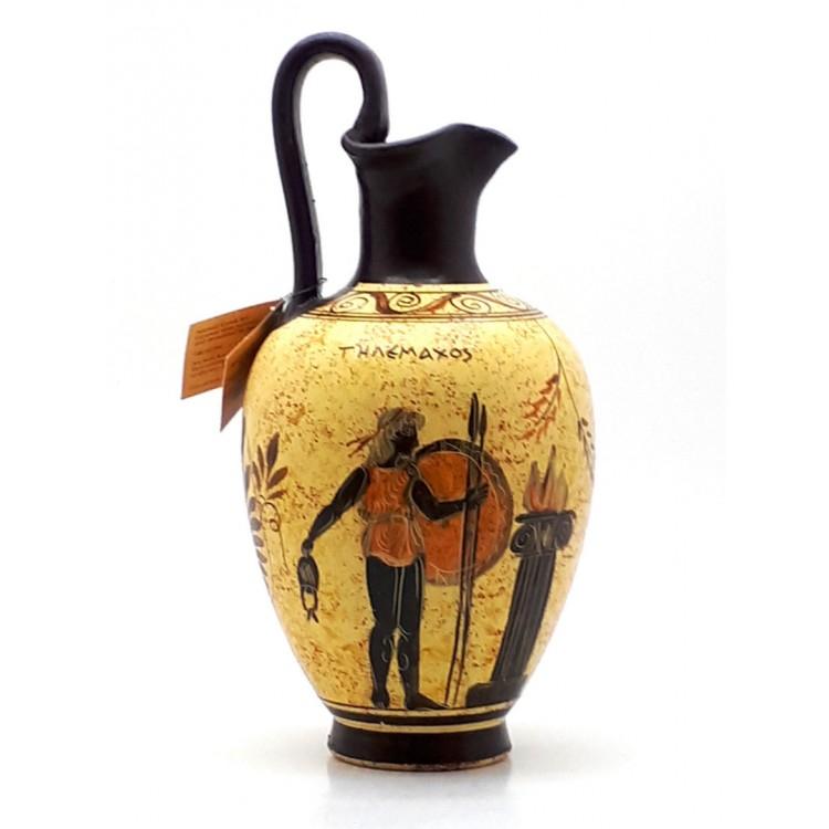 Ancient Greek Vase Pottery Vessel Pot Goddess Athena Amp God