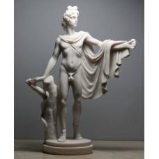 Apollo belvedere griechisch-römischer musikgott nackte männliche gegossene marmorstatue skulptur