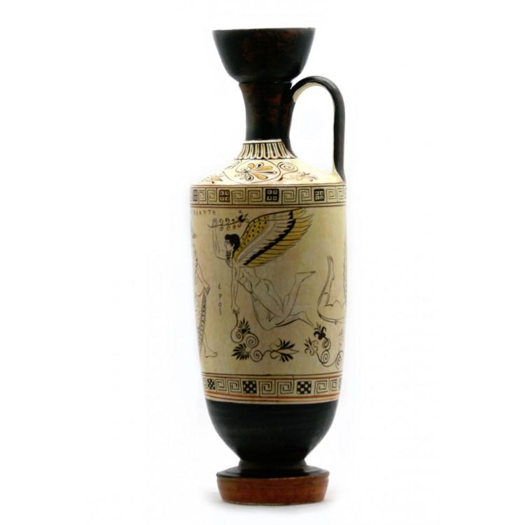 Atalanta Lekythos EROS Gods of love Vase Ancient Greek Pottery Ceramic Copy