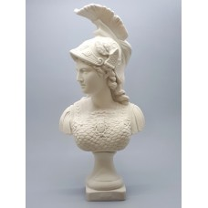 Athena Minerva Bust Head Greek Roman Goddess Cast Marble Sculpture Statue 14.57 inches