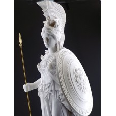 Athena Minerva Greek Roman Goddess Cast Marble Sculpture Statue 27.56in