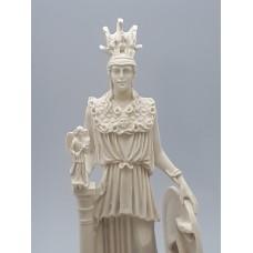 Athena Minerva Greek Roman Goddess Cast Marble Statue Sculpture 10 inches