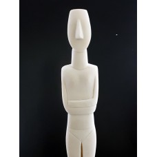 Cycladic Figurine Idol Greek Large Statue Sculpture Museum Copy Cast Marble 23 inches / 58.5 cm