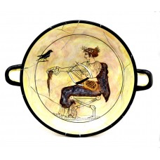 Cylix of God Apollo Wine Cup bowl Ancient Greek Pottery Museum Copy