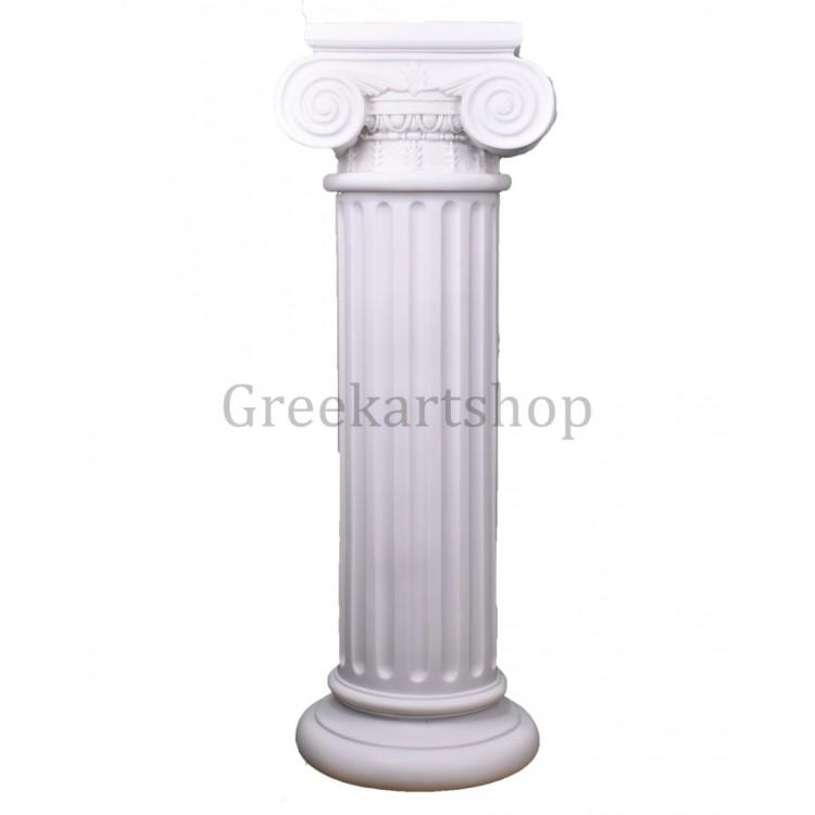 Greek Ionic order Column Pillar Pedestal Statue Handmade Sculpture Decor 30.12 inches