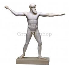 Poseidon or Zeus of Artemision Greek God Nude Male Sculpture Statue cast marble museum copy