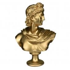 APOLLO Greek Roman God Bust Head Statue Cast Marble Sculpture Handmade 12.6in - 32 cm