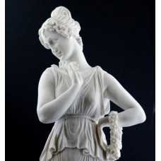 Dancer Canova Museum Copy Female Greek Cast Marble Large Sculpture Statue