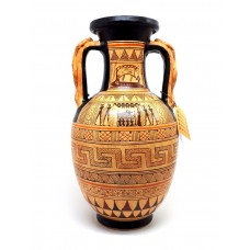 Ancient Greek Ceramic Vase Amphora snakes handle Geometric Art Pottery Greece
