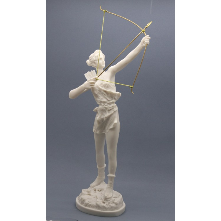 Artemis Diana With Bow Greek Roman Goddess Statue