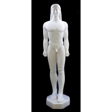 Kouros Nude Male Youth Cast Marble Greek Sculpture Statue Museum Copy 31in