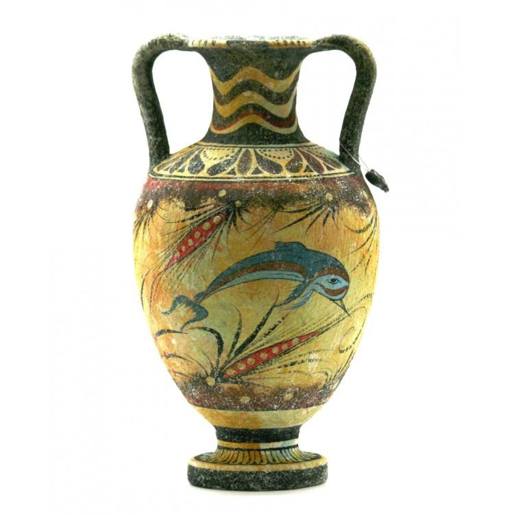 Minoan Vase Pottery Painting Dolphin Ancient Greek Crete Ceramic Knossos