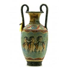 Minoan Vase Pottery Painting Parisian Women Ancient Greek Crete Ceramic Knossos