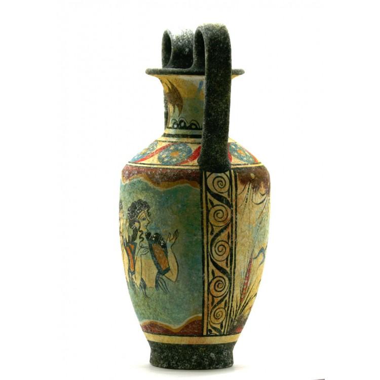 Minoan Vase Pottery Painting Parisian Women Ancient Greek