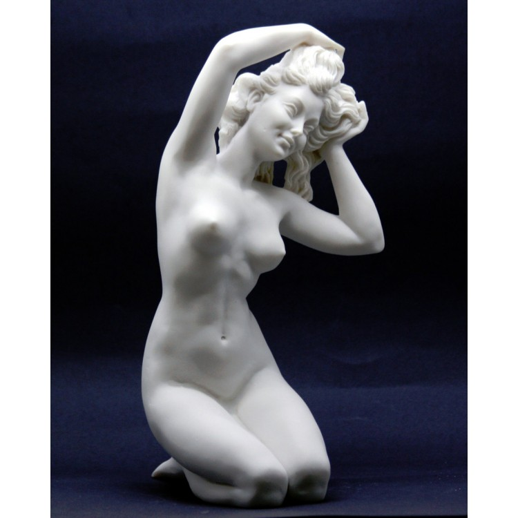 Nude Female Naked Sexy Woman Erotic Art Cast Marble Sculpture Statue