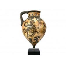 Minoan Marine Style Rhyton sea nautilus octopus corals Ceramic Vase pottery knossos museum copy