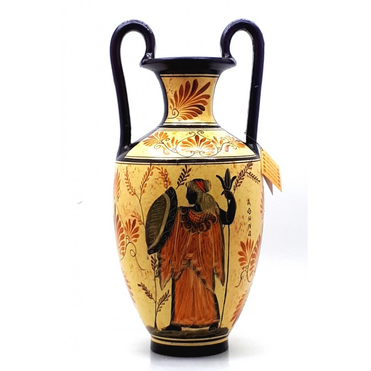 Amphora Vase Greek Ceramic Pottery Painting Goddess Hera God Zeus