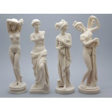 SET 4 Goddess Aphrodite Venus  Greek Roman Nude Erotic Statue Sculpture