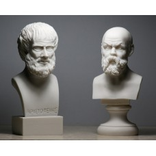 SOCRATES & ARISTOTLE Greek Philosopher Bust Head Set Statue Sculpture