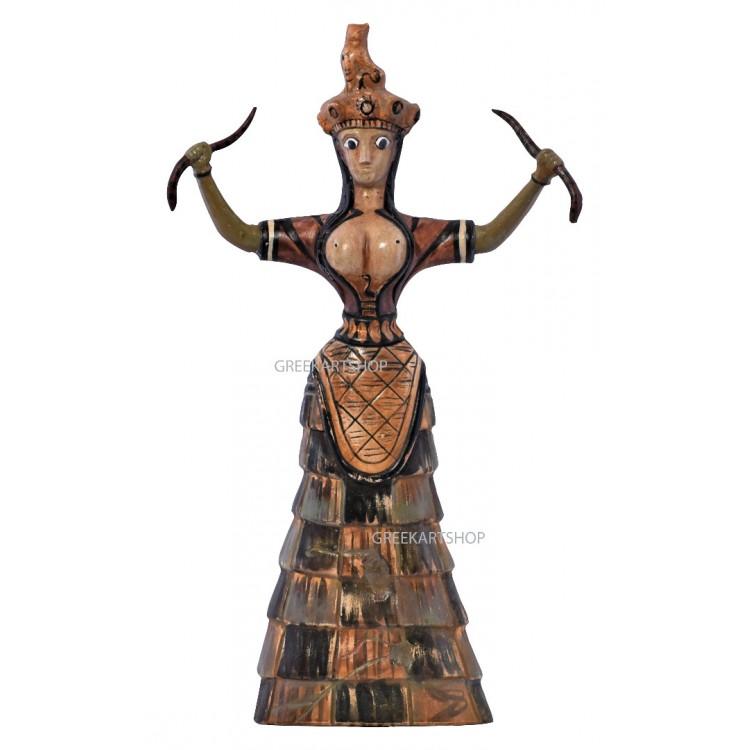 Snake goddess of fertility and sexuality Figurine Minoan Knossos  goddess Sculpture