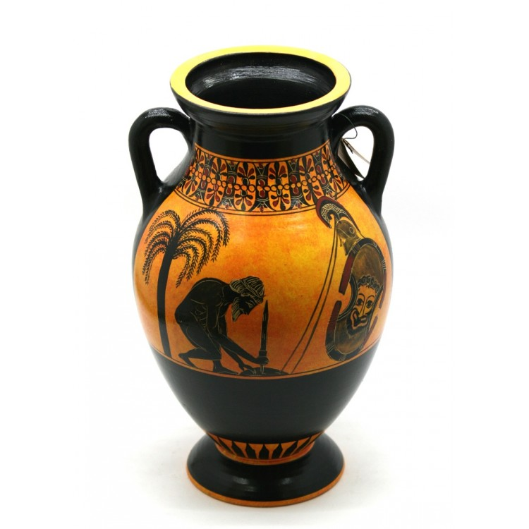 Suicide Of Ajax Vase Ancient Greek Amphora Pottery Museum Copy