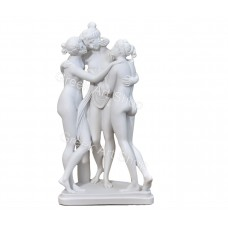 Three Graces Goddesses of charm Cast Marble Nude Statue Sculpture Handmade