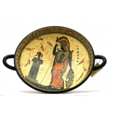 Wine Cup Pottery Kylix Ancient Greek Pottery Painting Goddess Athena