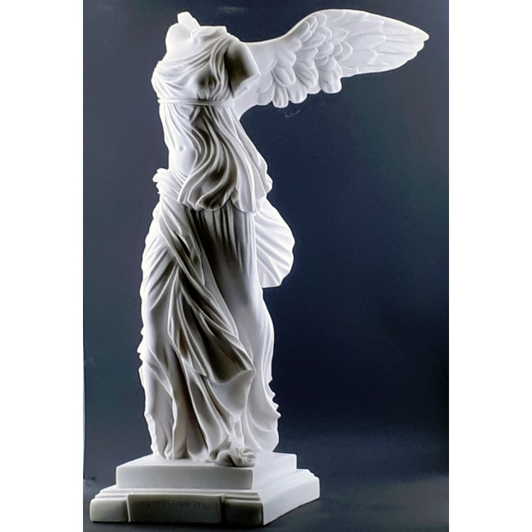 Winged Nike Victory of Samothrace Cast Marble Greek Statue Sculpture 23.6in