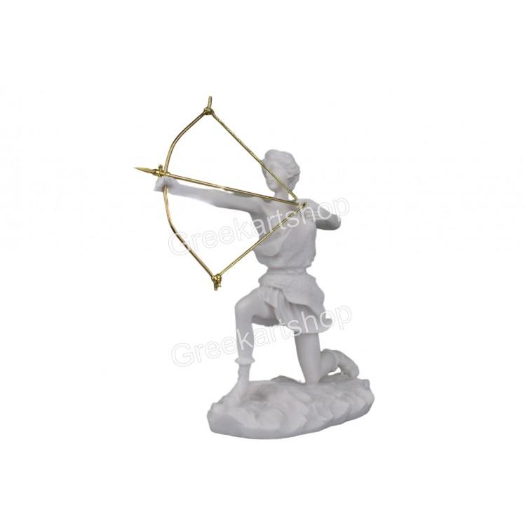 Artemis Diana Greek Roman Goddess hunting bow statue sculpture cast marble