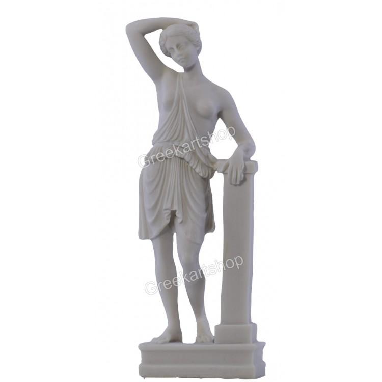 ARTEMIS Wounded Amazon Warrior Woman semi Nude Female Statue Sculpture 10.2 inches - 26cm