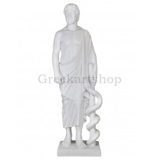 Asclepius Greek God of Medicine & Physicians Large Cast Marble Statue Sculpture