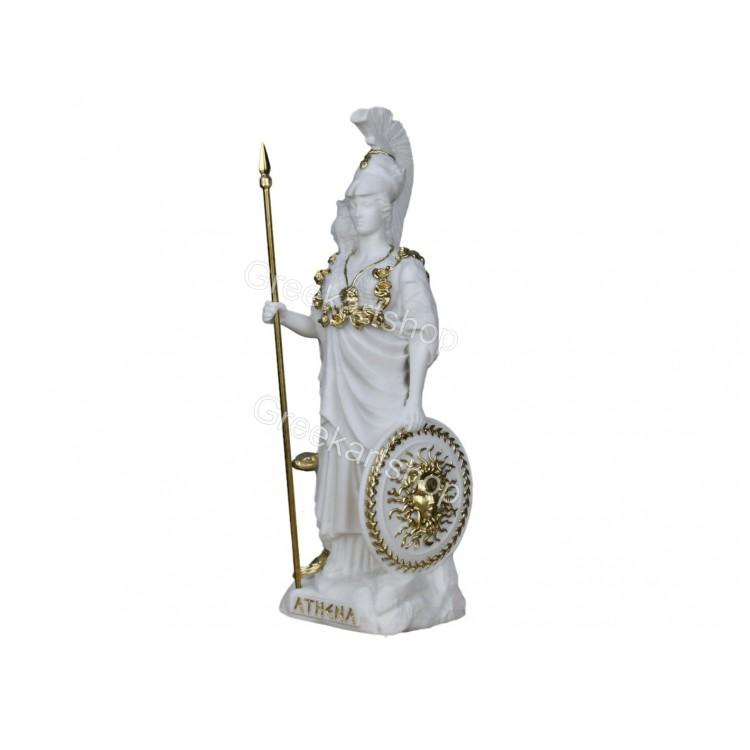 Athena Minerva Greek Roman Goddess Medusa Shield Statue Sculpture Figure