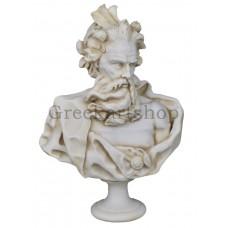 bust of Neptune Greek god Poseidon Head statue sculpture cast marble museum copy