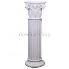Corinthian Order Column Pillar Capital Ancient Greek Roman Architecture Cast Marble 32inches