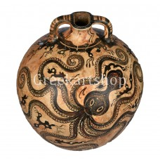 Flask with Octopus Marine Style mιnoan vase pottery knossos museum copy