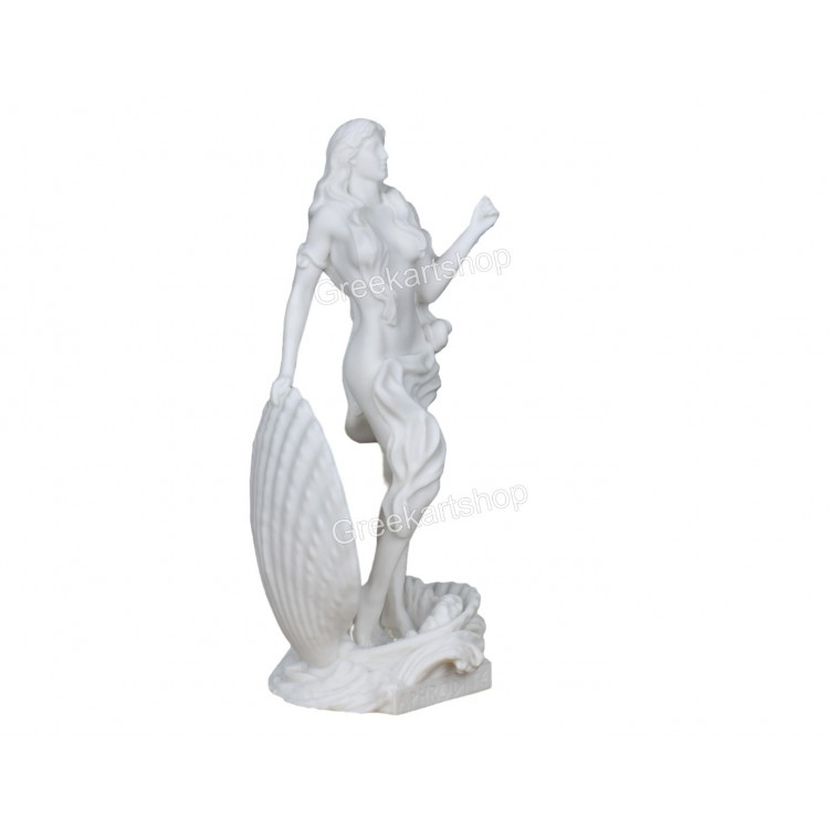 Goddess APHRODITE Venus in Shell Nude Female Erotic Statue Sculpture figure