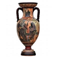 Goddess Athena, Theseus and Amphitrite Vase Ancient Greek Pottery Ceramic 20.87inches