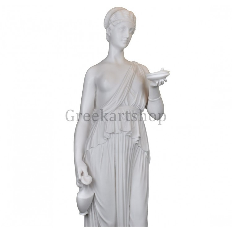 Hebe goddess of youth Female Greek Roman Statue Sculpture Cast Marble