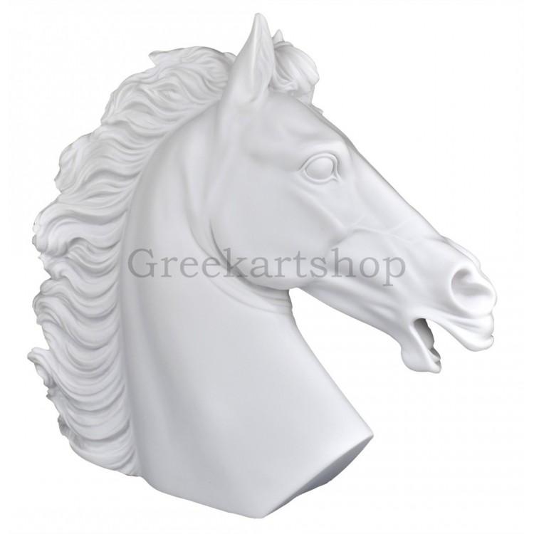 Horse Head Animal Statue Greek Sculpture Cast Marble Decor