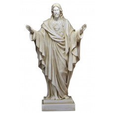 Jesus Christ Son of God Lord Greek Statue Sculpture Cast Marble 15.75 inches