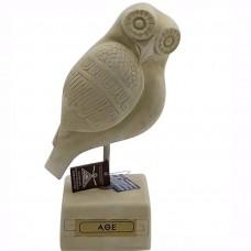 Owl of Goddess Athena symbol of Wisdom Greek Statue Sculpture Casting Stone