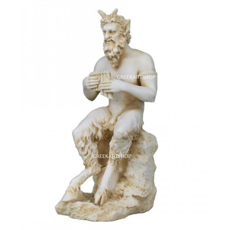 PAN Satyr Greek Nude God of Nature Faunus Statue Sculpture cast marble