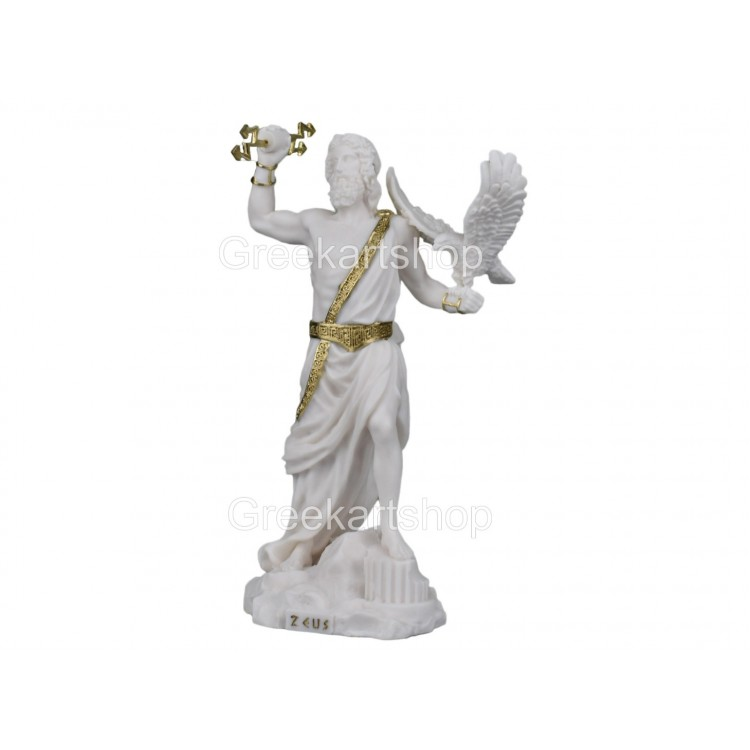 ZEUS King of Gods and sky with thunderbolt statue sculpture figure